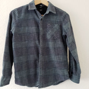 Volcom Button Down Shirt Blue/Green